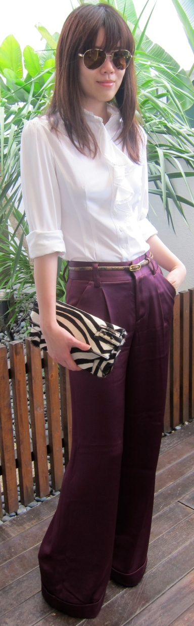 Hello from Singapore VI : Plum-p up the Wide Leg Pants |