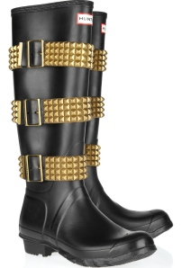 HUNTER Original Tall stud-strapped Wellington boots