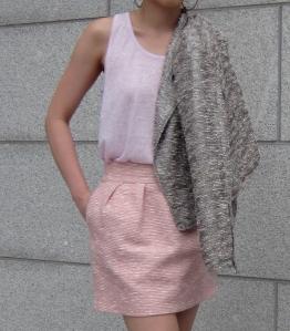 pastel tweed