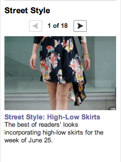 dipped hem skirt