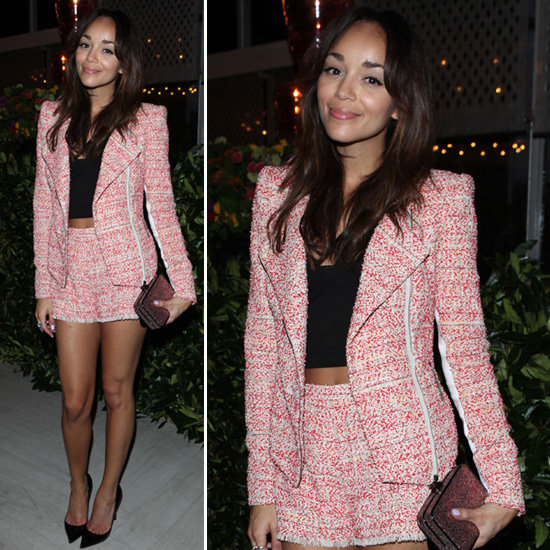 ashley madekwe tweed suit