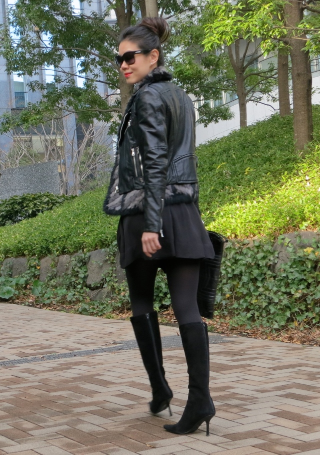 leather biker outfit